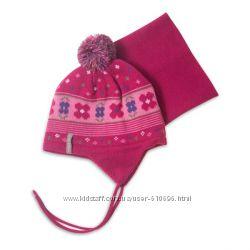 Зимний комплект шапка манишка PELUCHE & TARTINE