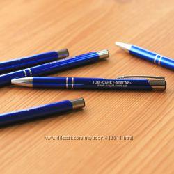 металлическая ручка с гравировкой фио или надписей