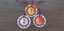 картонные медали за 1, 2, 3 место