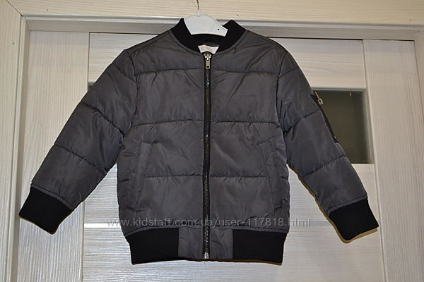 Деми куртка  бомбер h&m 110р. 4-5 лет