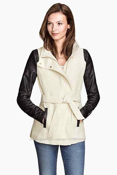 Пальто Пиджак комбинированный твид. H&M eu36
