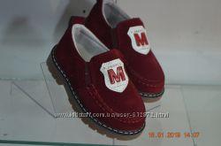 замшевые бордовые туфли 21-25