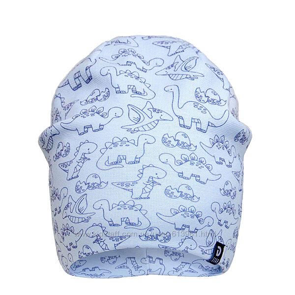 Демисезонная двухслойная шапка для мальчика 42-46