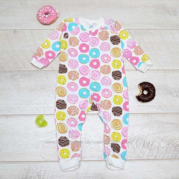 Хлопковый человечек на кнопках Пончики Миникин р. 80, 86