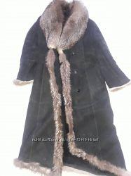 Шикарная натуральная дубленка с натуральным мехом