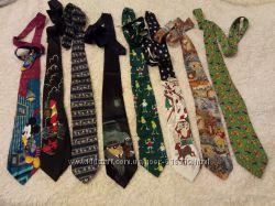 галстук оригинальный с веселым рисунком