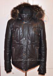 Куртка кожаная зимняя Турция новая р. М-L