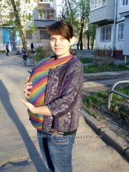 Слинг шарф Lenny Lamb - Rainbow Радуга хлопок с бамбуком