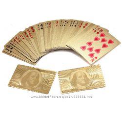 Покерные пластиковые игральные карты с позолотой Доллар 54 шт 1002539