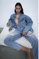 Джинсовая куртка oversized Zara S. M /L