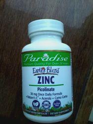 Paradise Herbs Комплекс Цинк Пиколинат 30 мг с натуральными добавками