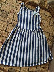 Платье летнее 2 шт, 140 рост