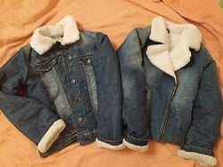 джинсовые пиджаки 2 шт рост 128