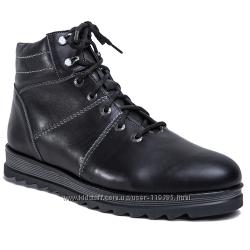 Зимние кожаные ботинки  разные размеры