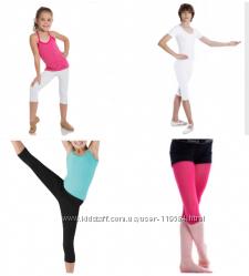 Спортивные укороченные леггинсы черные, розовые, белые, малиновые  хлопок