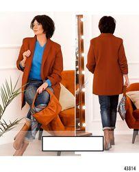 Элегантный минималистичный пиджак плюс сайз Цвета