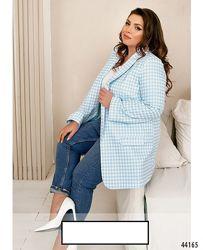 Привлекательный пиджак батал с подкладкой Цвета