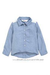 Красивенная рубашка h&m 6-8 лет в наличии