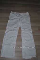 Штаны белый лен Savage  размер s