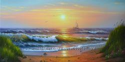 картина  маслом Бердянский залив 40х80