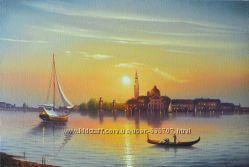 картина  маслом Венеция утром  40х60