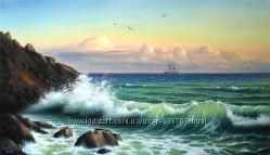 Картина маслом Ритмы моря 40х70