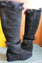 Женские демисезонные сапоги Tory Burch Marcel fur boot, р. 37, 5 оригинал