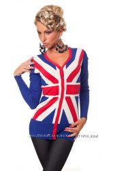 Женская кофта Флаг Великобритании, отличное качество