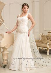 Роскошные свадебные платья больших размеров для пышных красавиц