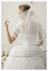 Шикарная фата свадебная для нежных и милых невест