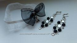 Серьги и подвязка для невесты