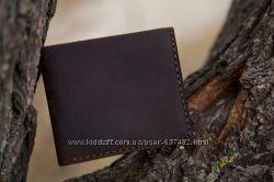 Мужской кошелек минималист. Натуральная кожа