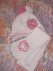 Зимний польский комплект шапка шарф