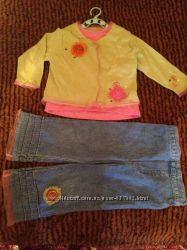 Кофта и джинсы для девочки 2года