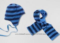 Флисовый набор для мальчика шапочка шарфик