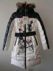 Пальто для девочек Kiko на тинсулейте 152, 158, 164