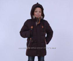 Удлинённая куртка классика на тинсулейте KIKO 134, 140, 146, 152, 158, 164