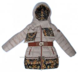Пальто зимнее с шарфиком Donilo на тинсулейте 134, 140, 146, 152, 158, 164