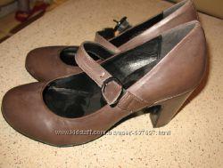 туфли кожаные женские с перепонкой