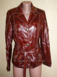 Куртка кожаная лак