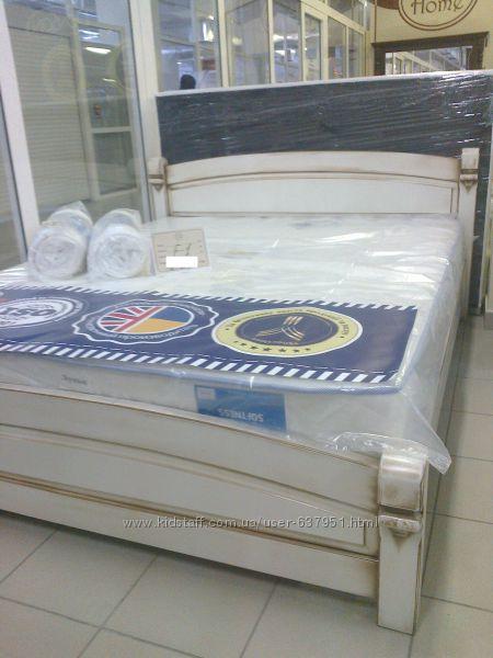 Фиеста, Элит Класс - двуспальная кровать из массива дерева