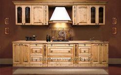 Кухня из массива дерева, производство высококачественной мебели