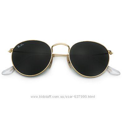 Очки Ray Ban RB 3447 Round Metal Gold комплект стекло 20a91cfde1ba8