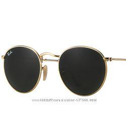 Очки Ray Ban RB 3447 Round Metal Gold комплект стекло, 599 грн ... 32b1cc63611