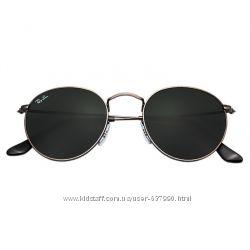Очки Ray Ban RB 3447 Round Metal Gunmetal комплект стекло копия, 599 ... 598429493b2