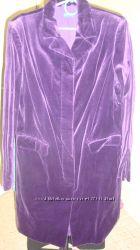Велюровое пальто BENETTON р. 42 S-M