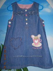 джинсовое платье-сарафанчик, 3-4 г