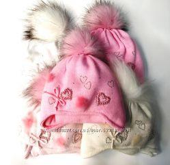 Комплект- шапка и шарф в наличии  розовый