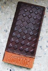 Мужской кошелек Kavis, портмоне, Натуральная кожа ЕК54