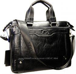 Мужская качественная сумка-портфель Polo 08-3 А4 сумка в институт КС53